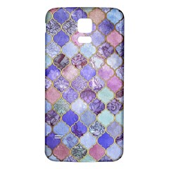 Gorgeous Blue Moroccan Mosaic Samsung Galaxy S5 Back Case (white) by Brittlevirginclothing