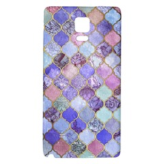Gorgeous Blue Moroccan Mosaic Galaxy Note 4 Back Case by Brittlevirginclothing