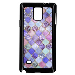 Gorgeous Blue Moroccan Mosaic Samsung Galaxy Note 4 Case (black) by Brittlevirginclothing