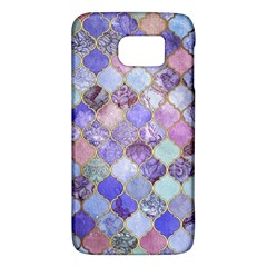 Gorgeous Blue Moroccan Mosaic Galaxy S6 by Brittlevirginclothing