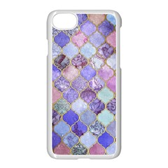 Gorgeous Blue Moroccan Mosaic Apple Iphone 7 Seamless Case (white) by Brittlevirginclothing