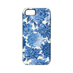 Blue Flowers Apple Iphone 5 Classic Hardshell Case (pc+silicone) by Brittlevirginclothing