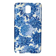 Blue Flowers Samsung Galaxy Note 3 N9005 Hardshell Case by Brittlevirginclothing