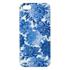 Blue Flowers Iphone 5s/ Se Premium Hardshell Case by Brittlevirginclothing