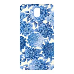 Blue Flowers Samsung Galaxy Note 3 N9005 Hardshell Back Case by Brittlevirginclothing