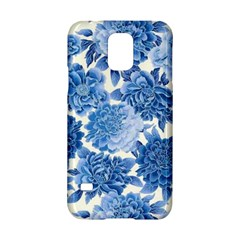 Blue Flowers Samsung Galaxy S5 Hardshell Case