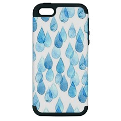 Rain Drops Apple Iphone 5 Hardshell Case (pc+silicone) by Brittlevirginclothing