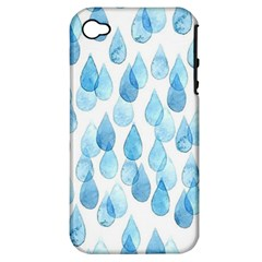 Rain Drops Apple Iphone 4/4s Hardshell Case (pc+silicone) by Brittlevirginclothing