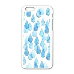 Rain Drops Apple Iphone 6/6s White Enamel Case by Brittlevirginclothing