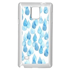 Rain Drops Samsung Galaxy Note 4 Case (white) by Brittlevirginclothing