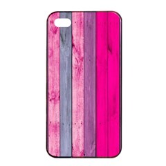 Pink Wood  Apple Iphone 4/4s Seamless Case (black) by Brittlevirginclothing