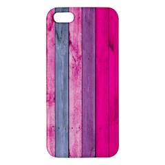 Pink Wood  Apple Iphone 5 Premium Hardshell Case by Brittlevirginclothing