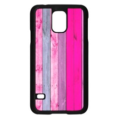 Pink Wood  Samsung Galaxy S5 Case (black) by Brittlevirginclothing