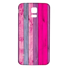 Pink Wood  Samsung Galaxy S5 Back Case (white)