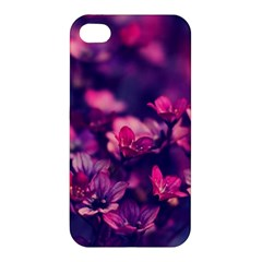 Blurry Lila Flowers Apple Iphone 4/4s Premium Hardshell Case by Brittlevirginclothing
