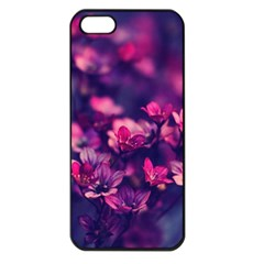 Blurry Lila Flowers Apple Iphone 5 Seamless Case (black) by Brittlevirginclothing