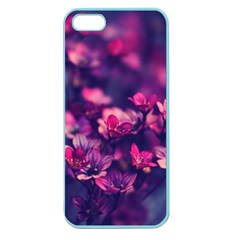Blurry Lila Flowers Apple Seamless Iphone 5 Case (color)