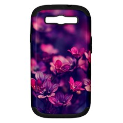 Blurry Lila Flowers Samsung Galaxy S Iii Hardshell Case (pc+silicone) by Brittlevirginclothing