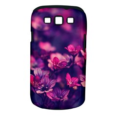 Blurry Lila Flowers Samsung Galaxy S Iii Classic Hardshell Case (pc+silicone)