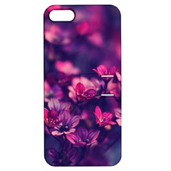 Blurry Lila Flowers Apple Iphone 5 Hardshell Case With Stand by Brittlevirginclothing