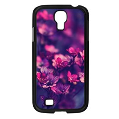 Blurry Lila Flowers Samsung Galaxy S4 I9500/ I9505 Case (black) by Brittlevirginclothing