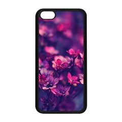 Blurry Lila Flowers Apple Iphone 5c Seamless Case (black) by Brittlevirginclothing