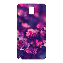 Blurry Lila Flowers Samsung Galaxy Note 3 N9005 Hardshell Back Case by Brittlevirginclothing