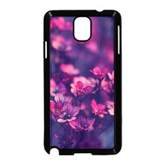 Blurry Lila Flowers Samsung Galaxy Note 3 Neo Hardshell Case (black) by Brittlevirginclothing