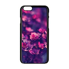 Blurry Lila Flowers Apple Iphone 6/6s Black Enamel Case by Brittlevirginclothing