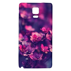 Blurry Lila Flowers Galaxy Note 4 Back Case