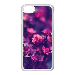 Blurry Lila Flowers Apple Iphone 7 Seamless Case (white)