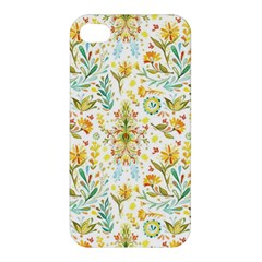 Vintage Pastel Flowers Apple Iphone 4/4s Premium Hardshell Case