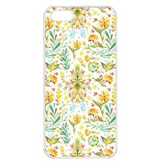 Vintage Pastel Flowers Apple Iphone 5 Seamless Case (white)