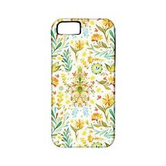 Vintage Pastel Flowers Apple Iphone 5 Classic Hardshell Case (pc+silicone)