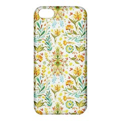 Vintage Pastel Flowers Apple Iphone 5c Hardshell Case