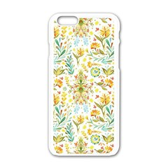 Vintage Pastel Flowers Apple Iphone 6/6s White Enamel Case