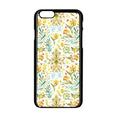 Vintage Pastel Flowers Apple Iphone 6/6s Black Enamel Case by Brittlevirginclothing