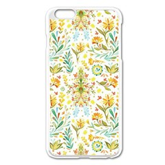 Vintage Pastel Flowers Apple Iphone 6 Plus/6s Plus Enamel White Case by Brittlevirginclothing