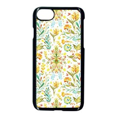 Vintage Pastel Flowers Apple Iphone 7 Seamless Case (black) by Brittlevirginclothing
