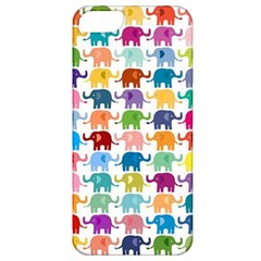 Cute Colorful Elephants Apple Iphone 5 Classic Hardshell Case by Brittlevirginclothing