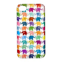 Cute Colorful Elephants Apple Iphone 4/4s Hardshell Case With Stand by Brittlevirginclothing