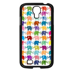 Cute Colorful Elephants Samsung Galaxy S4 I9500/ I9505 Case (black) by Brittlevirginclothing