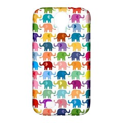 Cute Colorful Elephants Samsung Galaxy S4 Classic Hardshell Case (pc+silicone) by Brittlevirginclothing