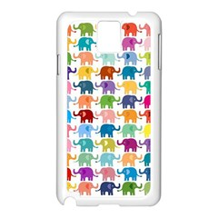 Cute Colorful Elephants Samsung Galaxy Note 3 N9005 Case (white) by Brittlevirginclothing
