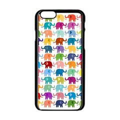 Cute Colorful Elephants Apple Iphone 6/6s Black Enamel Case by Brittlevirginclothing