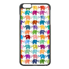 Cute Colorful Elephants Apple Iphone 6 Plus/6s Plus Black Enamel Case by Brittlevirginclothing