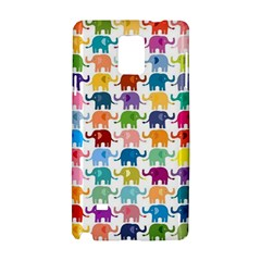 Cute Colorful Elephants Samsung Galaxy Note 4 Hardshell Case