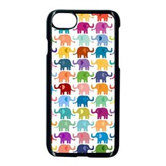 Cute Colorful Elephants Apple Iphone 7 Seamless Case (black) by Brittlevirginclothing