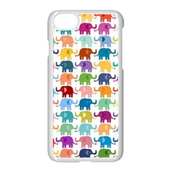 Cute Colorful Elephants Apple Iphone 7 Seamless Case (white) by Brittlevirginclothing