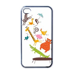 Cute Cartoon Animals Apple Iphone 4 Case (black)